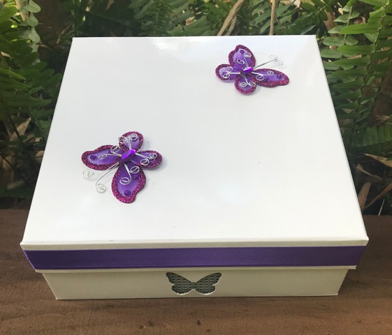 Butterfly Release Butterfly Box with Butterflies and Ribbon